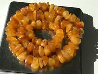 Natural Vintage Amber Beads Antique Baltic Old Necklace 45,09 gr.