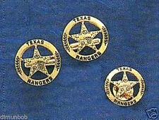 Engraved Texas Ranger Badge Cuff Links and Pin Goldtone