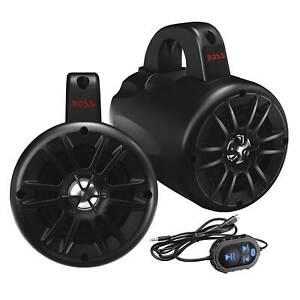 "Boss Audio BM40AMPBT 4"" 500W 2-Way Amplified Bluetooth Marine ATV Speakers, Pair"