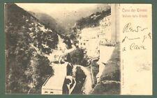 Campania. CAVA DEI TIRRENI, Salerno. Vallata della Trinità. Cartolina viag. 1901