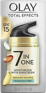 OLAY Total Effects 7-in-1 Moisturizer SPF 15, Fragrance-Free 1.7 oz - New