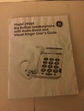 Ge Model 29568 Speakerphone Booklet User's Guide Book Instruction Manual