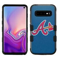 "Samsung Galaxy S10 Plus (6.4"") Hard Impact Rugged Cover Case Atlanta Braves #B"