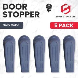 *NEW* 5 Grey Door Wedges RUBBER Heavy Duty Wedge Jam Stops Stopper Home Office