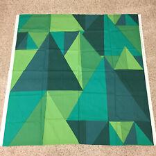 "marimekko fabric kuusikulmio green blue 1.5 yards 54"" x 56.5"" Maija Louekari"