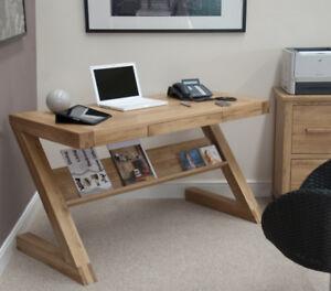 Z Opus Solid Oak Designer Desk - Brand New Boxed