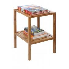 Small Book Phone Stand Bamboo Side Coffee Table Living Room Home Storage Rack