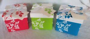 Folded Xmas Gift Ribbon Present Birthday Party Jewellery Flower Box Case Bag