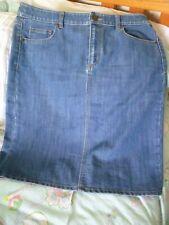 Sportscraft  blue denim skirt size 12 FREE POST