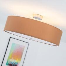 Moderne Deckenleuchte Deckenlampe mit Textilschirm Stoffschirm, braun, Ø 60cm