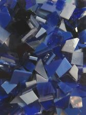 Blue Mix Stained Glass Mosaic Scrap Pack, about 100 Hand Cut Pieces