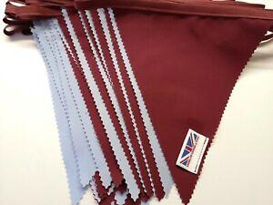 Aston Villa bunting ** claret and blue flags ** 10 mtr AVFC