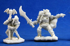 1 x COMMANDEMENT GOBLIN - BONES REAPER miniature figurine jdr rpg d&d command
