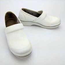 Dansko White Sanibel Volley Box Leather Clogs Ladies Size EU 37 US 6.5 - 7