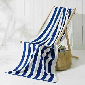 Cotton Pool Towels Soft Stripe Beach Towel Luxury Large Bath Sheet Quick Dry Spa