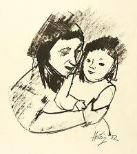 OTTO HERBIG - MUTTER UND KIND - Lithografie 1952