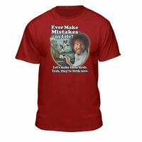 Bob Ross Make Mistakes Into Birds Official Licensed T-Shirt