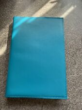 Aspinal Of London - A5 Blue Leather Notebook - Brand New