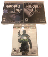 Call Of Duty Black Ops 2, Modern Warfare 3, Ghosts PS3 Video Game Lot Of 3