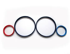 Tachoringe Set für BMW 5er E39, 7er E38, X5 E53 in Rot/Dunkelblau/Hellblau