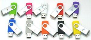 4GB USB Flash Drive, Flash Stick, Memory Stick JBOS Swivel Thumb Drive - 1 pc