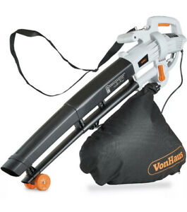 Leaf Blower 3000w 3-in-1 - Blows, Vacuums and Mulches Leaves - 35L Bag