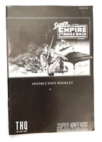 STAR WARS THE EMPIRE STRIKES BACK SUPER NINTENDO SNES *INSTRUCTION MANUAL ONLY*
