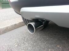 Redondo Cromo Tubo de escape se adapta a 50-59 MM D, Acero Inoxidable BMW 5 Series E39 -04 (CT1)