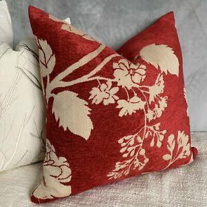 """Cushion Cover 18"""" Designer iLiv Interior Textiles Fabric Country Living Red"""