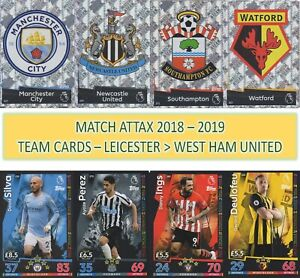 Topps Match Attax 2018 2019 18 19 Choose your Team player cards #181 to #360