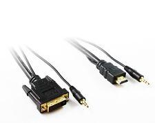Cisco (CAB-DVI-HDMI-8M+=) DVI-HDMI CABLE 8M WITH 3.5MM MINI-JACK AUDIO