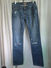 ABERCROMBE & FITCH,  FACTORY DISTRESSED JEANS/SLIM/SKINNY, 33:, 100% COTTON