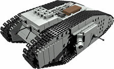 CUSTOM building INSTRUCTION for British Mark male tank to build from LEGO® parts