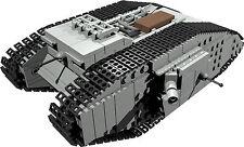 Custom building instruction for british mark male tank à bâtir à partir de lego ® pièces
