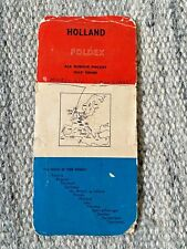 Vintage Foldex Pocket Map Holland (Amsterdam, Rotterdam, Brussels, Antwerpen)