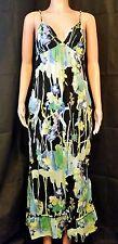 MAXIPALOOZA - Old Navy black/blue/green Floral Sleeveless Maxi Dress - Size XS