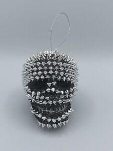 """Spiked Skull Head Halloween Christmas Tree Ornament 3"""""""