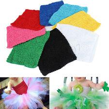 9'' Crochet Tube Top Elastic Waistband Headband Hair Band For Girls Tutu