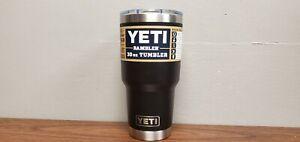 YETI Rambler 30oz Vacuum Insulated Tumbler w/ Magslider Lid Black New READ