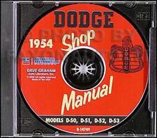 1954 Dodge Car Repair Shop Manual CD Meadowbrook Coronet Royal Suburban Sierra