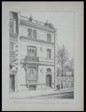 PARIS, MAISON 24 RUE FLACHAT - 1889 - 2 PLANCHES ARCHITECTURE - BAYARD