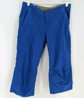 NWT Kuhl Kendra Kapri Capris Pants Blue 10 Natural Rise Floral Embroidered