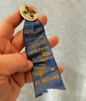 John A. Mead for Vermont Governor 1910 Republican Convention Political Pin