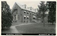 A View Of Memorial Hospital, Menomonie, Wisconsin WI RPPC