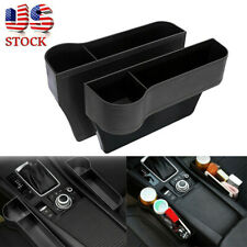 2X Car Seat Gap Catcher Filler Storage Box Pocket Organizer Holder Leather USA