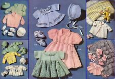 50+ Baby Knitting and Crochet Patterns vintage designs 3 & 4 ply
