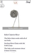 """Marla Aaron 24"""" Rolo Chain With 14k Yellow Gold Loops"""