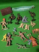 Job lot Of Vintage Plastic Soldiers figures timpo cherilea airfix britains