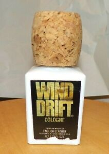 Vintage ENGLISH LEATHER Wind Drift Cologne Cork Cap 3.75 Fl Oz NOS