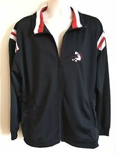 Shaq Shaquille O'Neal Basketball Track Jacket, Miami Heat Black Red, Mens Size L